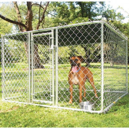 Chain Link Dog Kennel With Roof