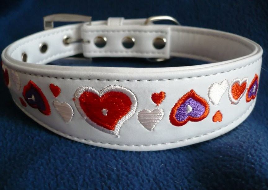 Embroidered Dog Collars Leather