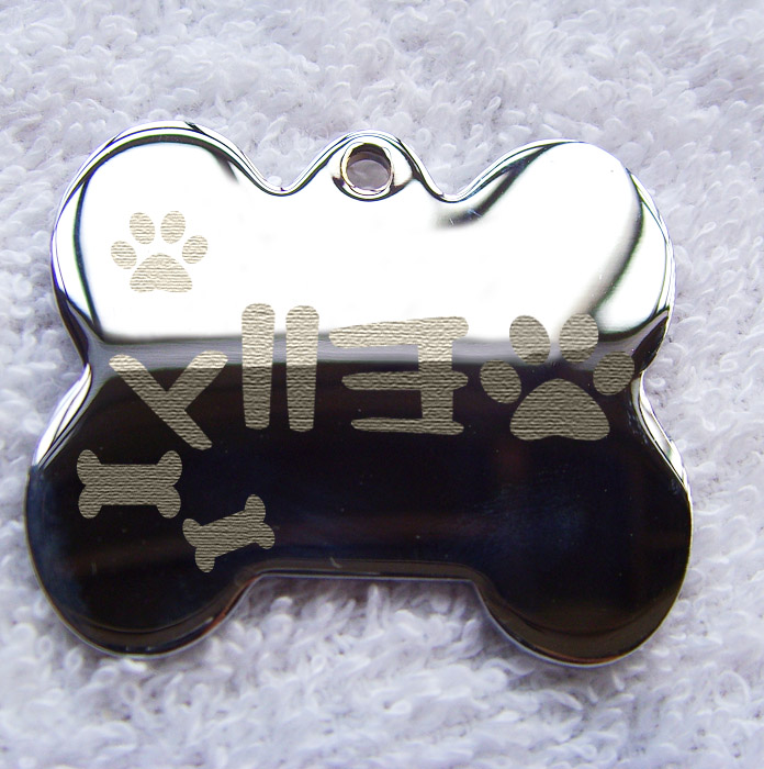 Engraved dog tags for pets