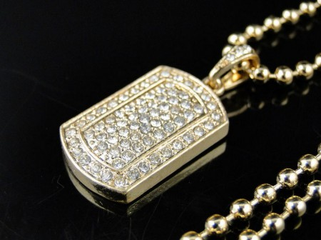 Gold Dog Tag Chain