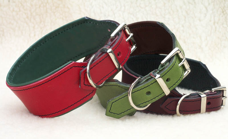 Leather dog collar with snap buckle