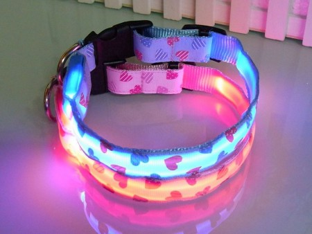 Lighted Dog Collars Flashing Lights