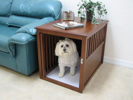 Wood Dog Crate Furniture