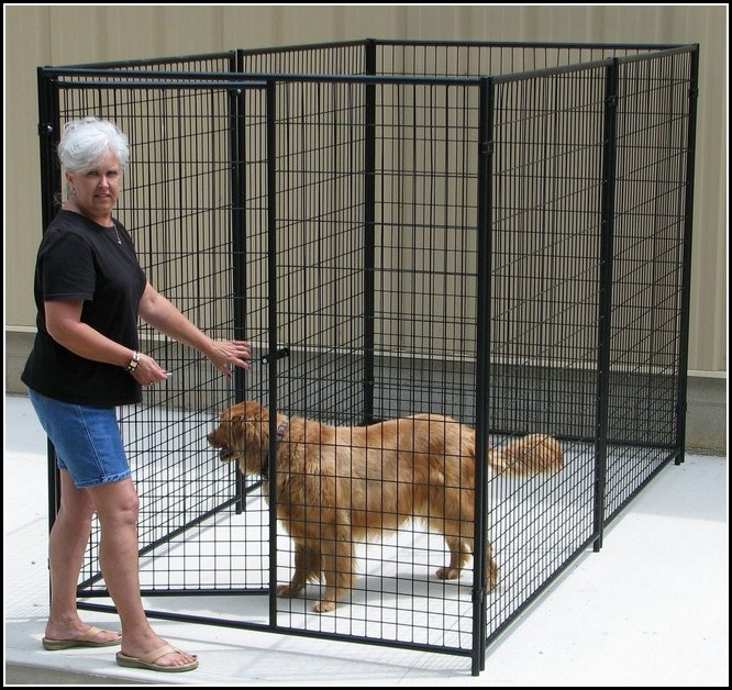Black Wire Dog Kennel
