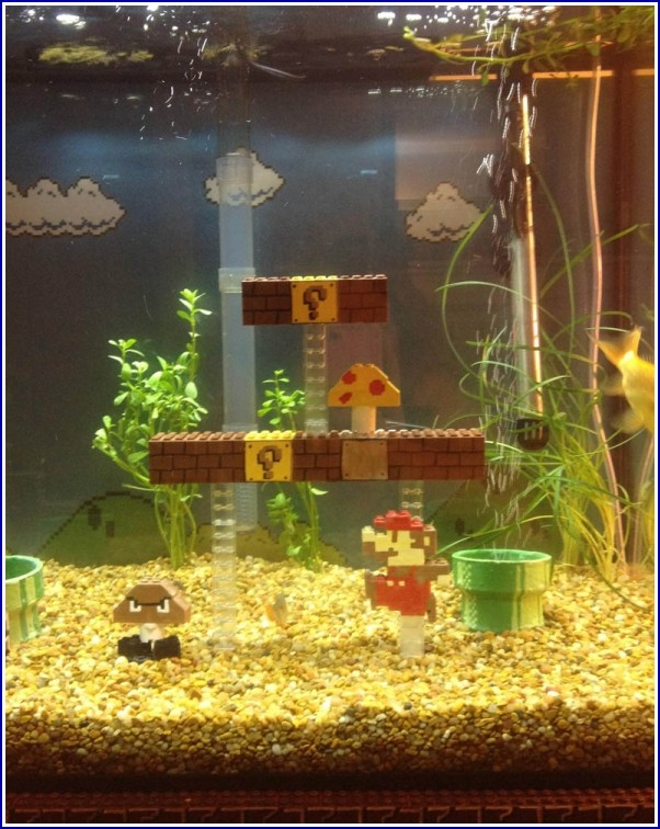 Mario Bros Fish Tank Accessories