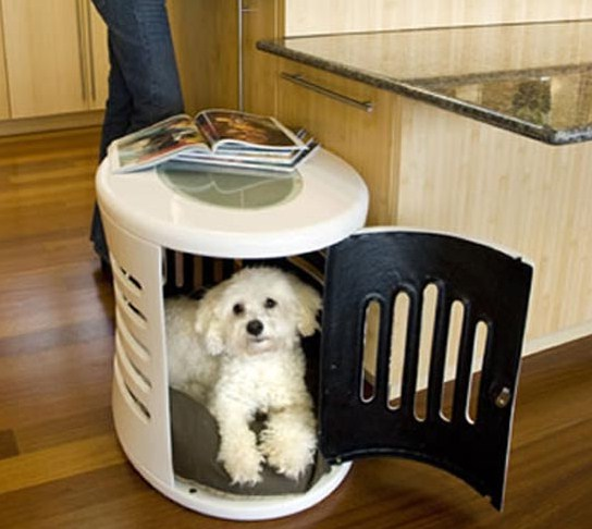 White Wood Dog Crate