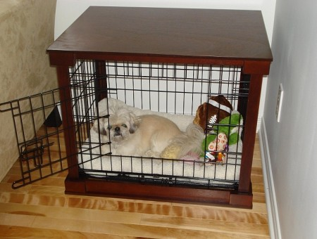 Wood Dog Crate Cover