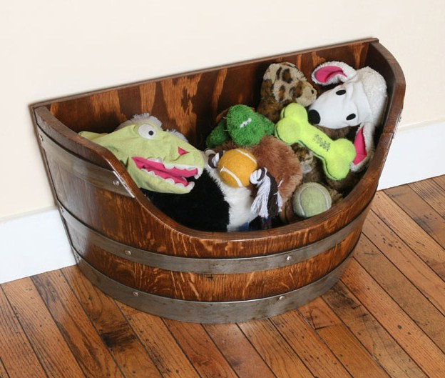 Wooden Dog Toy Box