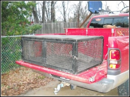 Homemade Truck Dog Boxes