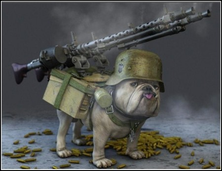 Cool Dogs With Guns